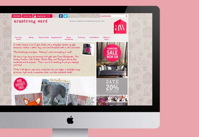 Armstrong Ward E-commerce Website
