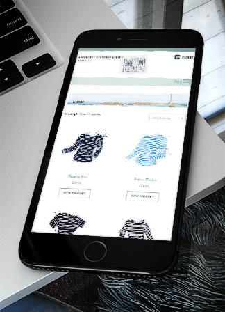 E-commerce Website for The Breton Shirt Co.