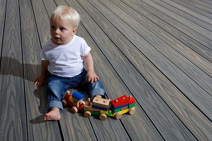 Child on decking