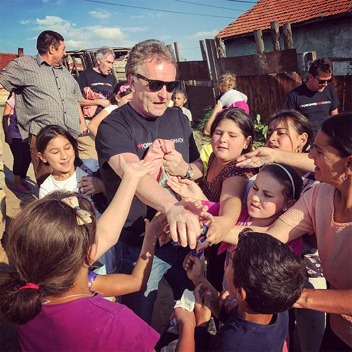 Yorkshire Aid Convoy With Children